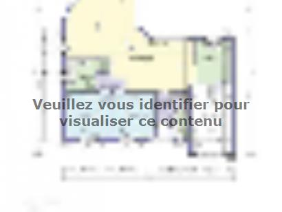 Plan de maison AMBRE 87 2 chambres  : Photo 1
