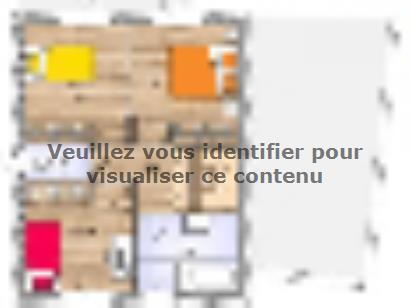Plan de maison R1TT2097-4GA 4 chambres  : Photo 2