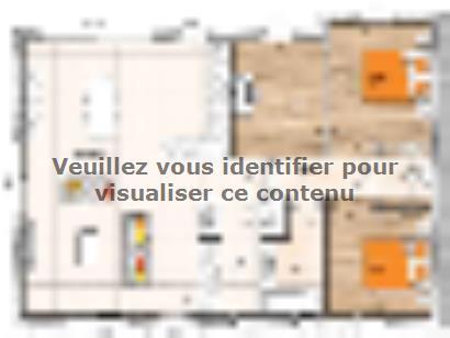 Plan de maison PP20106-2B 2 chambres  : Photo 1