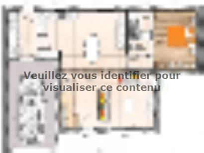 Plan de maison R119106-4GI 3 chambres  : Photo 1
