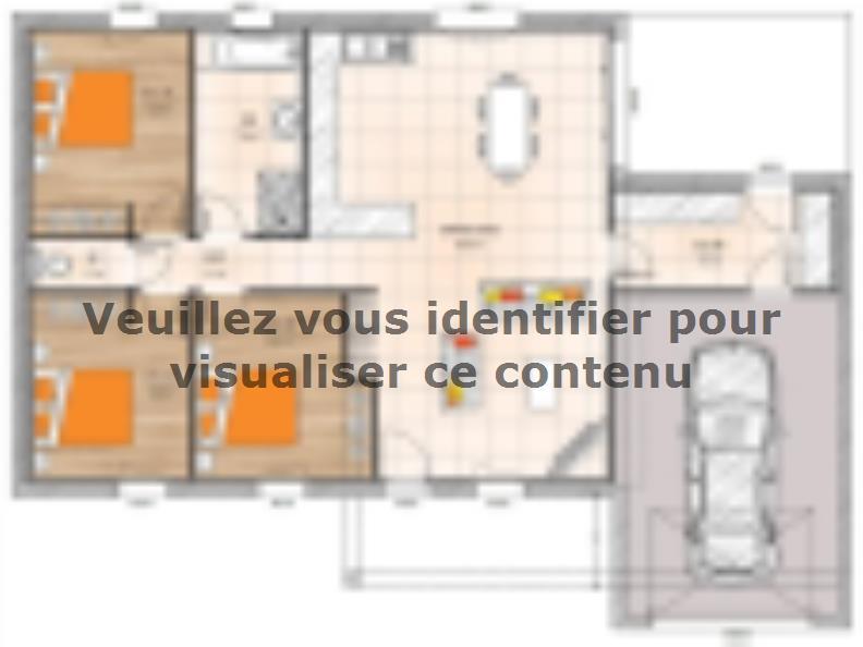 Plan de maison PP1995-3GA : Vignette 1