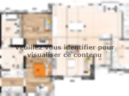 Plan de maison PPMP19124-4GA 4 chambres  : Photo 1