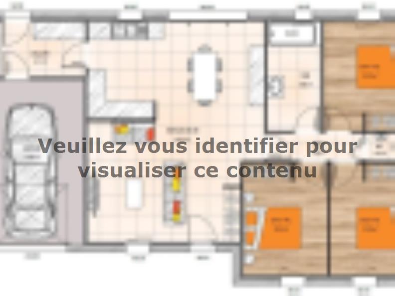 Plan de maison PP1990-3GI : Vignette 1