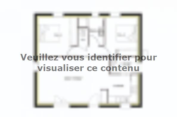 Plan de maison PT_PP_2_65_SG_Sud 2 chambres  : Photo 1