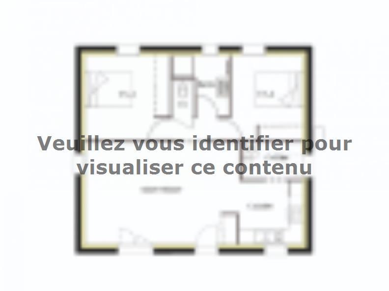 Plan de maison PT_PP_2_65_SG_Sud : Vignette 1
