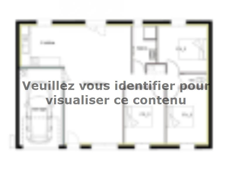 Plan de maison PT_PP_3_85_GEF_Sud : Vignette 1