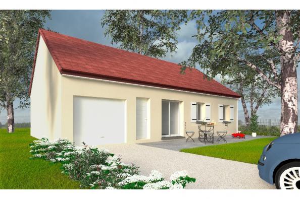 Modèle de maison PT_PP_3_85_GEF_Sud 3 chambres  : Photo 1