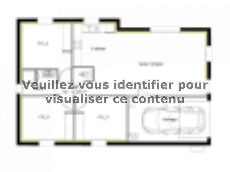 Plan de maison PT_PP_3_75_GIP_Sud : Vignette 1