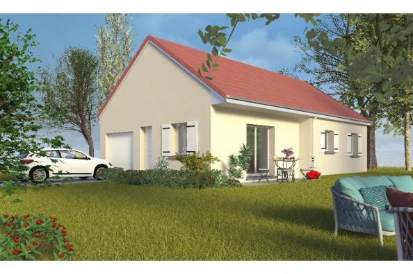 Modèle de maison PT_PP_3_75_GIP_Sud 3 chambres  : Photo 1