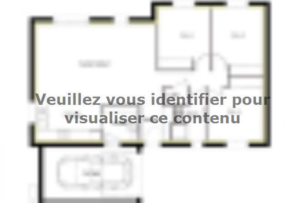 Plan de maison PT_PP_3_85_GAENL_Sud 3 chambres  : Photo 1