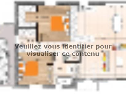 Plan de maison PP2086-2GA 2 chambres  : Photo 1