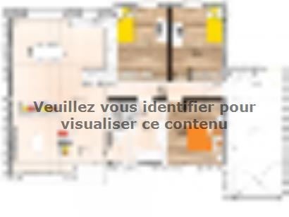 Plan de maison PP2094-3GA 3 chambres  : Photo 1