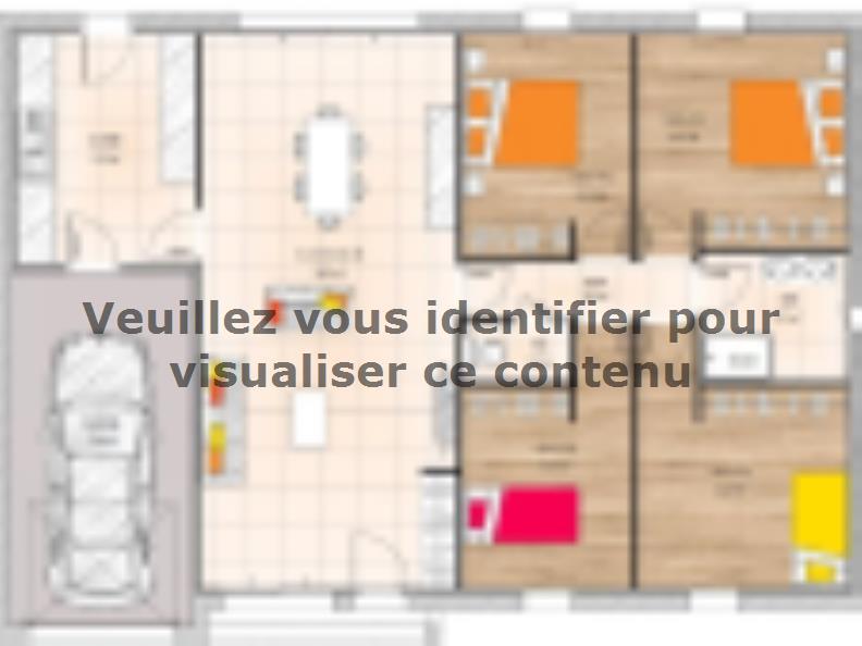 Plan de maison PP20104-4GI : Vignette 1