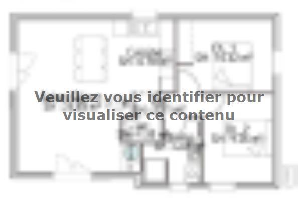 Plan de maison PP60_P1854V5 2 chambres  : Photo 1