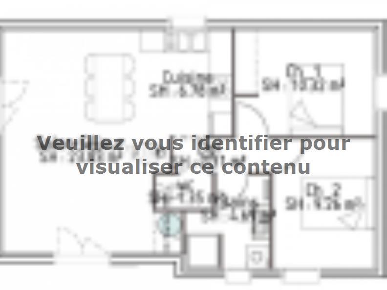 Plan de maison PP60_P1854V5 : Vignette 1