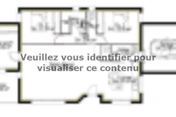 Plan de maison PP106_P1909V4 3 chambres  : Photo 1