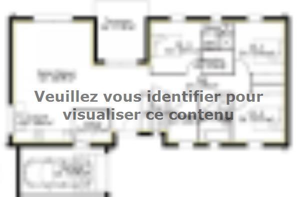 Plan de maison PP110_P1799V3 3 chambres  : Photo 1