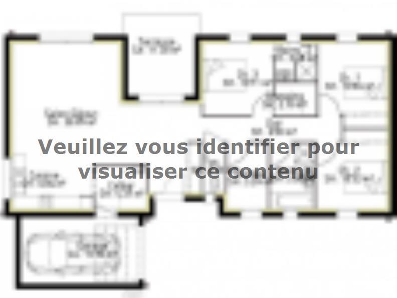 Plan de maison PP110_P1799V3 : Vignette 1