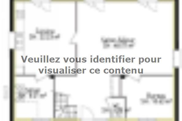 Plan de maison PPE176_P1883V3 4 chambres  : Photo 1