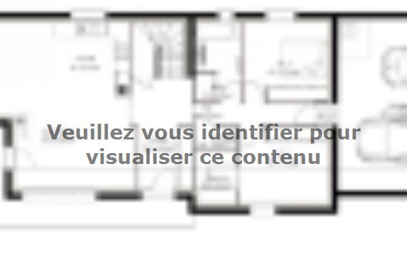 Plan de maison PPE148_P1820 3 chambres  : Photo 1