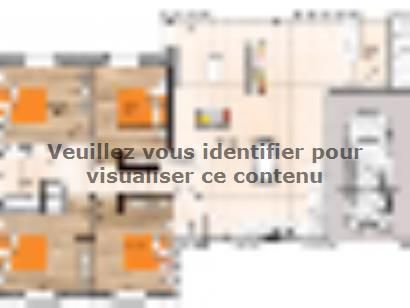 Plan de maison PP20110-4GI 4 chambres  : Photo 1