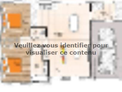 Plan de maison PP2067-2GI 2 chambres  : Photo 1