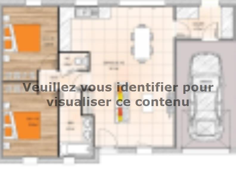 Plan de maison PP2067-2GI : Vignette 1
