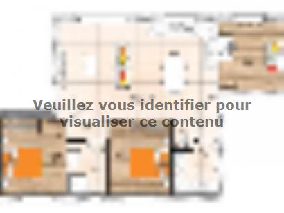 Plan de maison PPL2076-3 3 chambres  : Photo 1
