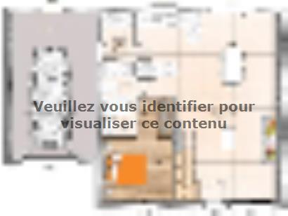 Plan de maison RCA20105-5GA 5 chambres  : Photo 1