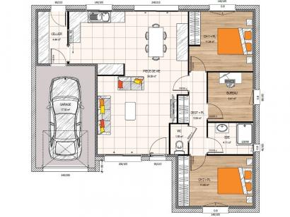 Modèle de maison PP2082-2BGI 2 chambres  : Photo 2