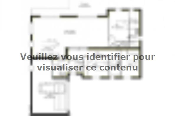Plan de maison PP137_P1850V5 4 chambres  : Photo 1