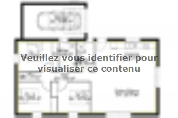 Plan de maison PP90_P1992 3 chambres  : Photo 1