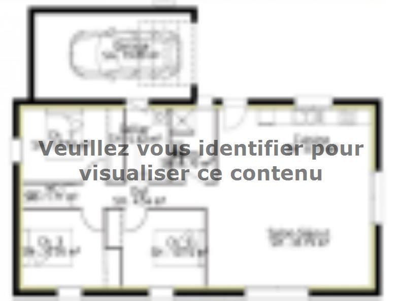 Plan de maison PP90_P1992 : Vignette 1