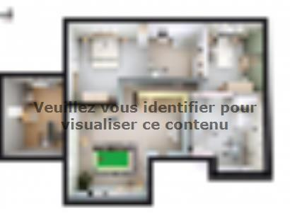 Plan de maison SM_201_ETG_SS_97673 5 chambres  : Photo 2