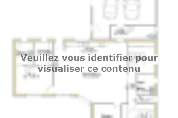 Plan de maison PP130_P1966V6 4 chambres  : Photo 1
