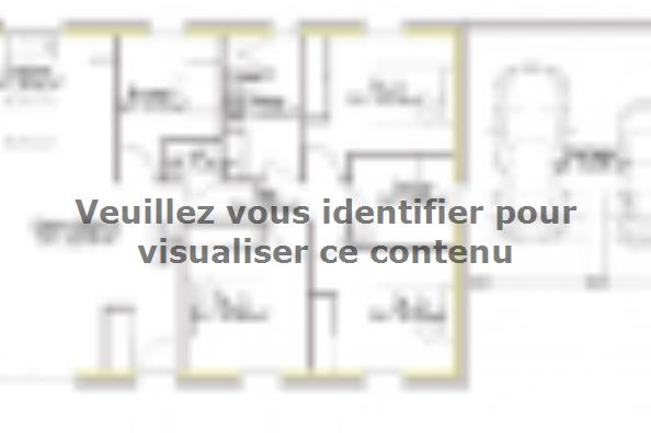 Plan de maison SS125_P279_Duplicata 4 chambres  : Photo 1