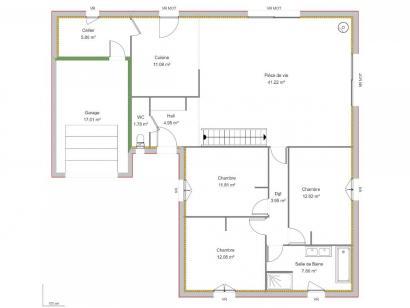 Maison neuve  à  Saint-Antoine-du-Rocher (37360)  - 223649 € * : photo 2