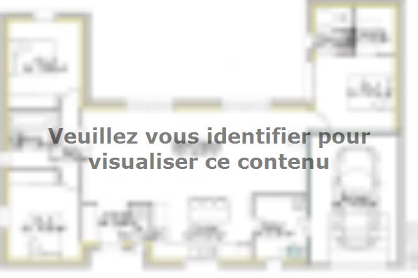 Plan de maison PP103__P2003V2 3 chambres  : Photo 1