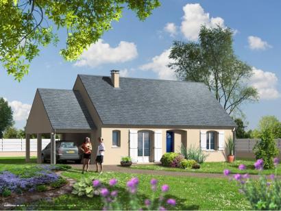 Maison neuve  à  Saint-Antoine-du-Rocher (37360)  - 169841 € * : photo 1