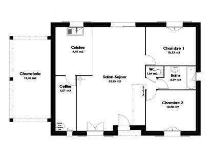 Maison neuve  à  Saint-Antoine-du-Rocher (37360)  - 169841 € * : photo 2