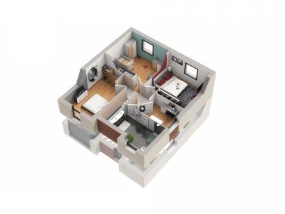 Maison neuve  aux  Étangs (57530)  - 238000 € * : photo 5