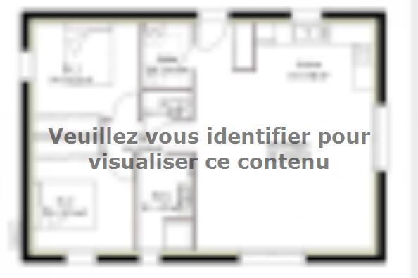 Plan de maison PP70_P2063 2 chambres  : Photo 1
