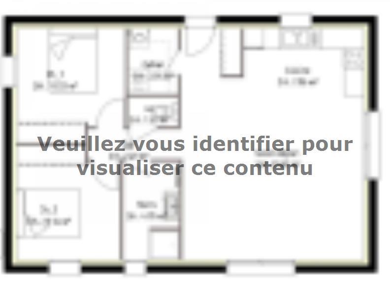 Plan de maison PP70_P2063 : Vignette 1