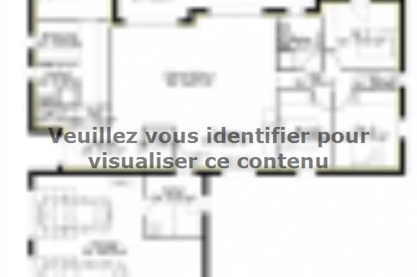 Plan de maison PP135_P2081V2 4 chambres  : Photo 1