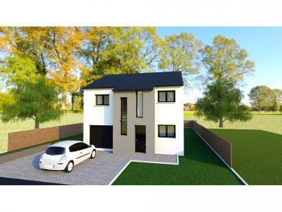 Maison neuve  à  Pommérieux (57420)  - 239000 € * : photo 1