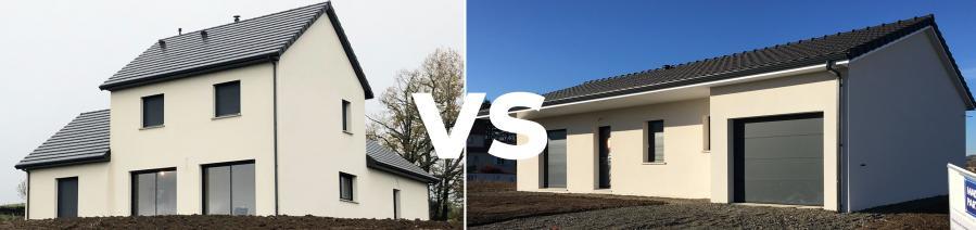Maison à étage versus maison de plain-pied