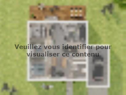 Plan de maison Plain-pied GA 2 ch Design 2 chambres  : Photo 2