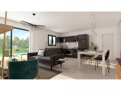 Modèle de maison Plain-pied GA 3 ch Design 3 chambres  : Photo 5