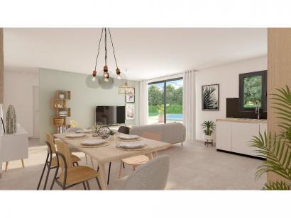 Modèle de maison Plain-pied GA 3 ch Trendy 3 chambres  : Photo 4