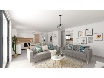Modèle de maison Plain-pied GA 4 ch Trendy 4 chambres  : Photo 3